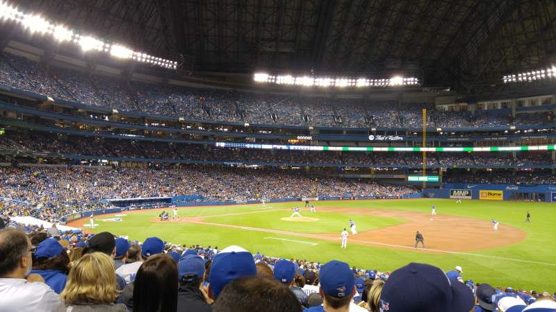 Seating view for Rogers Centre Section 114L Row 30 Seat 107