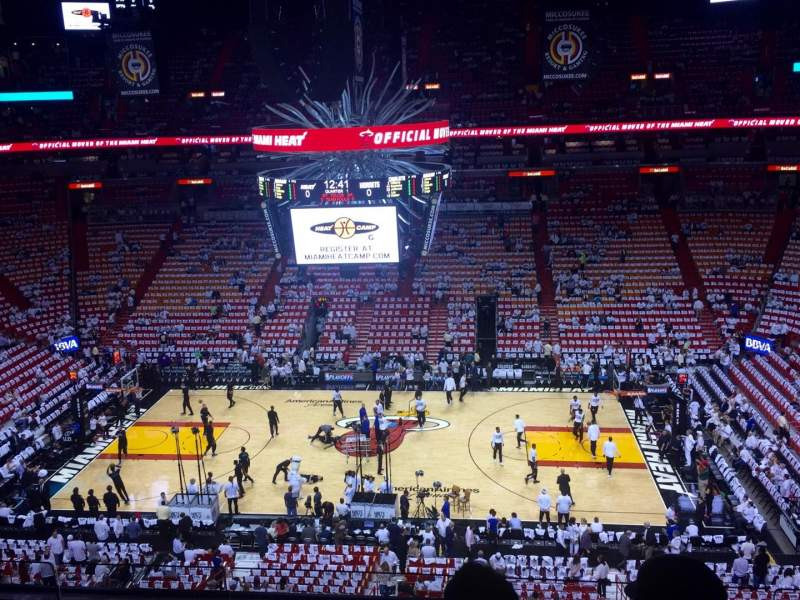 Seating view for American Airlines Arena Section 324 Row 4 Seat 5