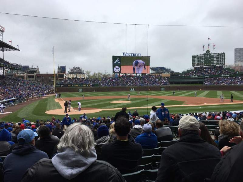 Seating view for Wrigley Field Section 124 Row 10 Seat 5