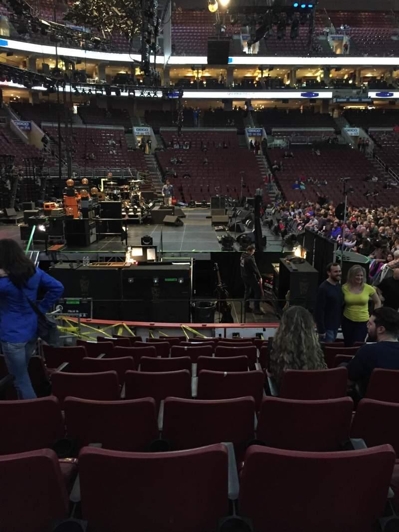 Wells Fargo Center, section: 123, row: 10, seat: 5,6