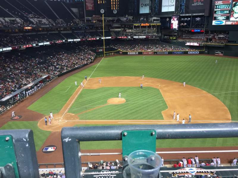 Seating view for Chase Field Section 311 Row 1 Seat 2