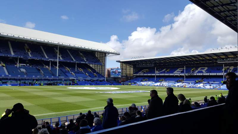 Seating view for Goodison Park Section LV Row B Seat 70