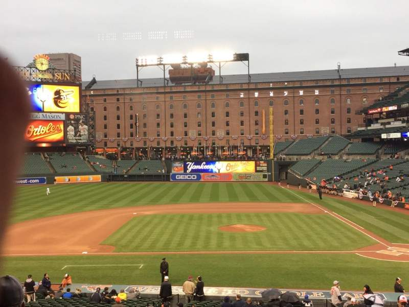 Seating view for Oriole Park at Camden Yards Section 49 Row 4