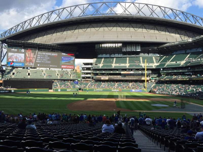Seating view for T-Mobile Park Section 139 Row 34 Seat 1