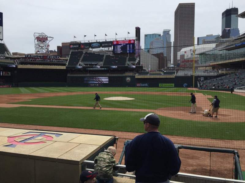 Seating view for Target Field Section 11 Row 8 Seat 6