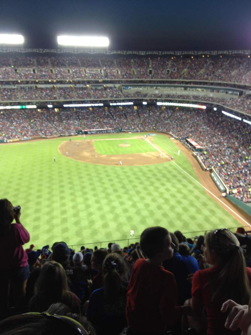 Seating view for Globe Life Park in Arlington Section 303 Row 12 Seat 8