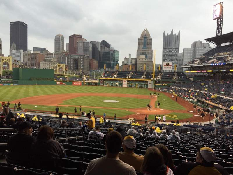 PNC Park, section 119, row CC, seat 28 - Pittsburgh Pirates vs