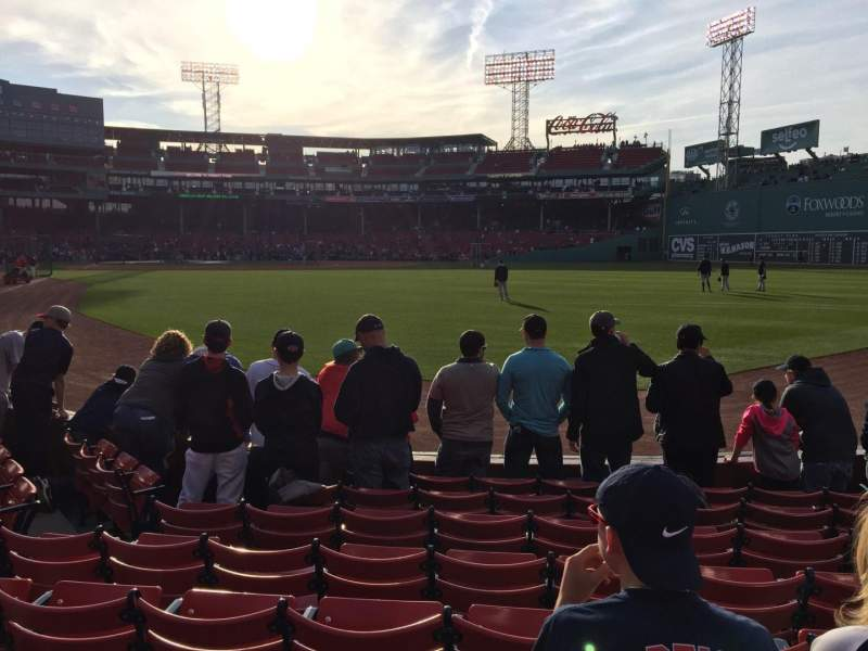 Seating view for Fenway Park Section Right Field Box 2 Row J Seat 13