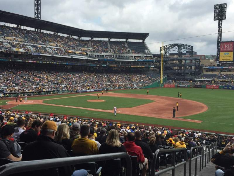 Seating view for PNC Park Section 107 Row AA Seat 22