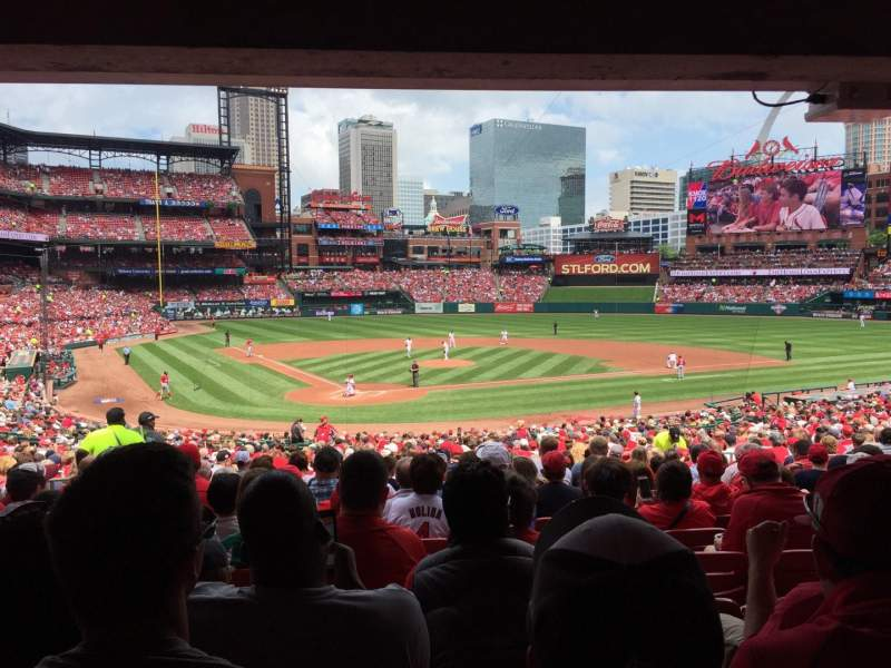 Seating view for Busch Stadium Section 148 Row 26 Seat 10