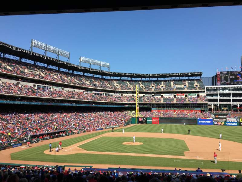 Seating view for Globe Life Park in Arlington Section 33 Row 32 Seat 3