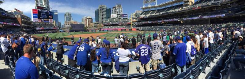 Seating view for PETCO Park Section 108 Row 11 Seat 17