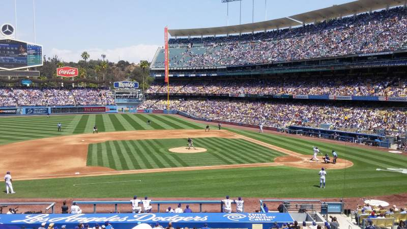 Seating view for Dodger Stadium Section 131LG Row E Seat 3