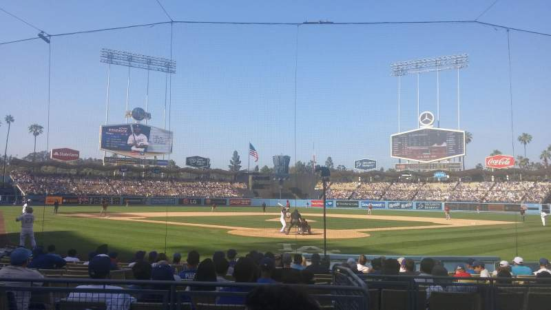 Dodger Stadium, section: 1FD, row: C, seat: 1