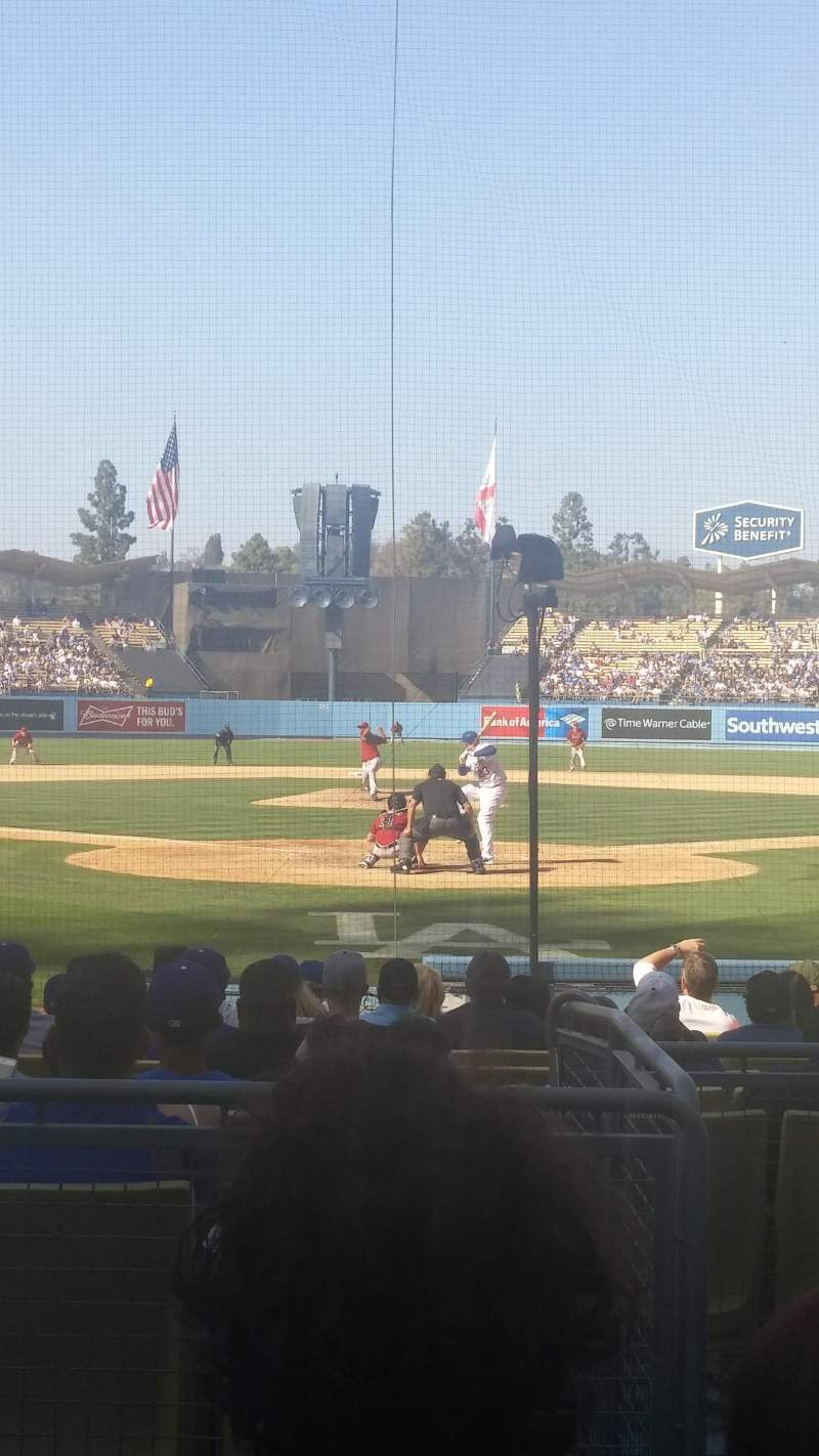 Seating view for Dodger Stadium Section 1FD Row C Seat 1