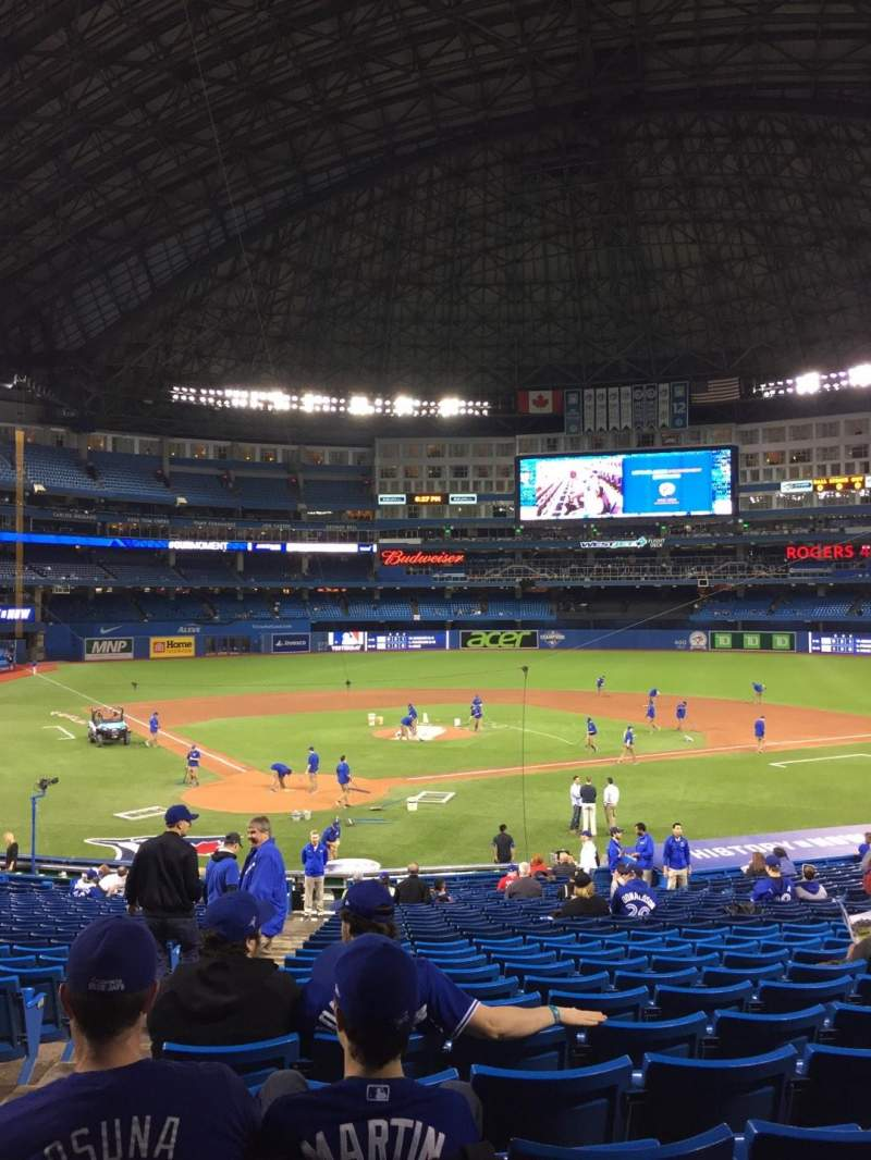 Seating view for Rogers Centre Section 120R Row 32 Seat 2