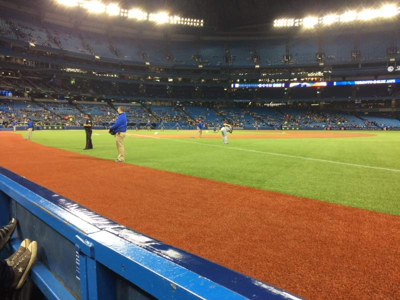 Seating view for Rogers Centre Section 113B Row 1 Seat 1