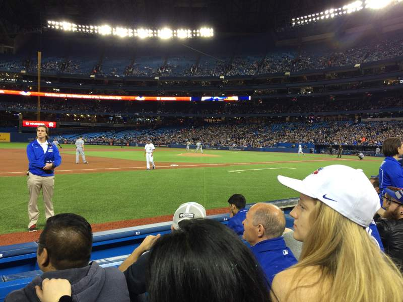 Seating view for Rogers Centre Section 128L Row 3 Seat 108