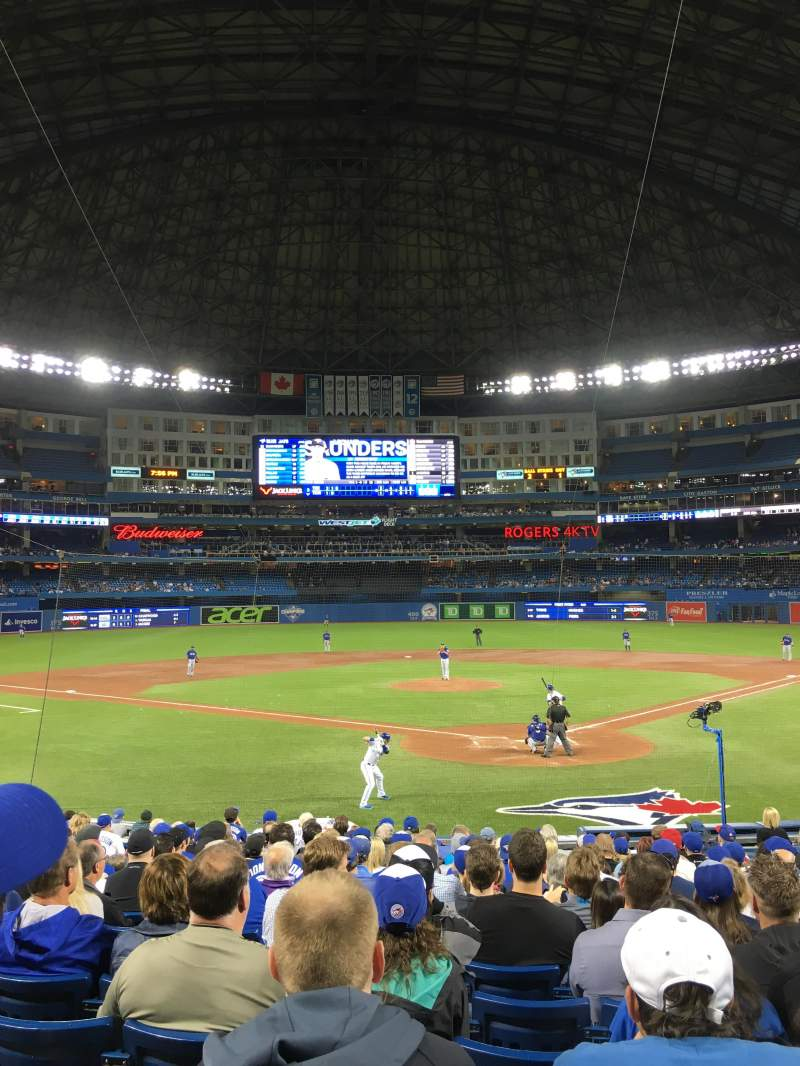 Seating view for Rogers Centre Section 123r Row 20 Seat 11