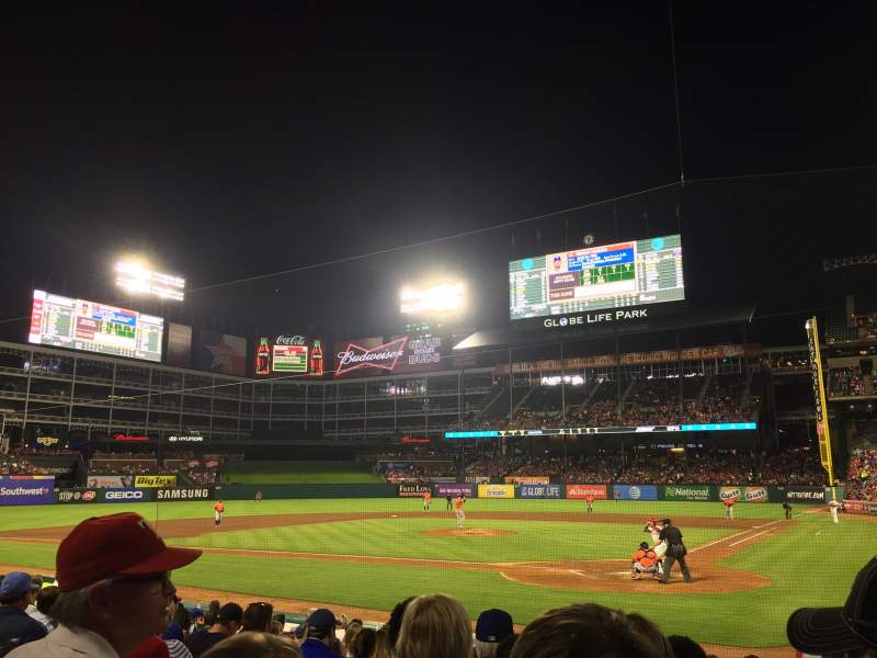 Seating view for Globe Life Park in Arlington Section 23 Row 10 Seat 4