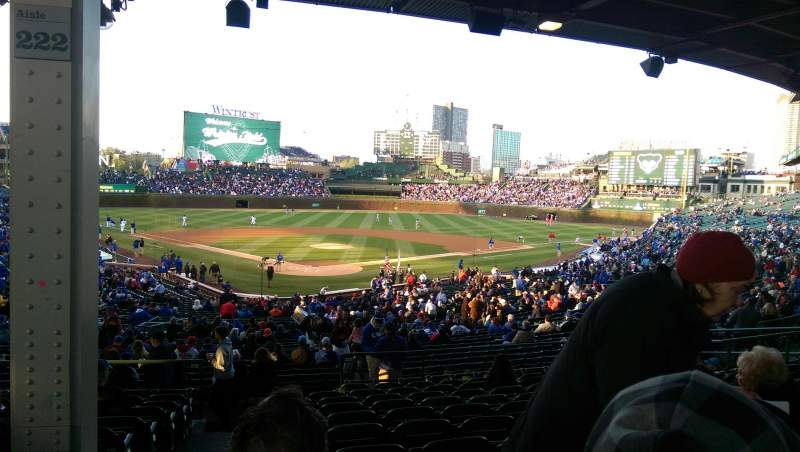 Seating view for Wrigley Field Section 222 Row 11 Seat 1