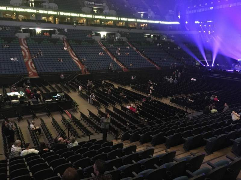Seating view for U.S. Bank Theater at Target Center Section 133 Row M Seat 7