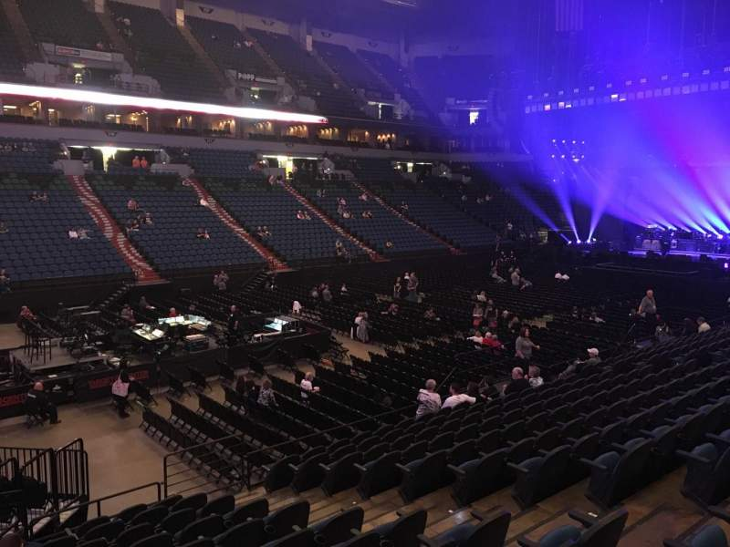 Seating view for U.S. Bank Theater at Target Center Section 136 Row M Seat 7