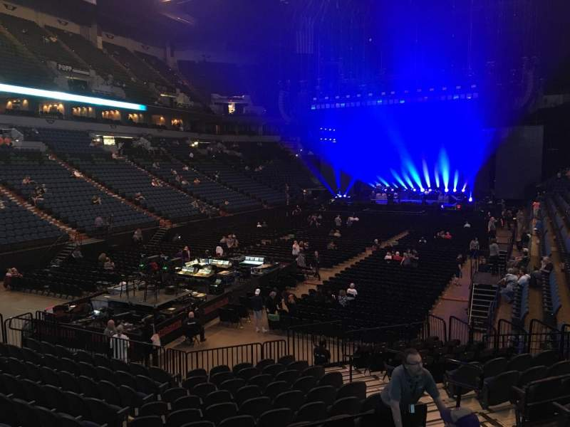 Seating view for U.S. Bank Theater at Target Center Section 138 Row M Seat 7