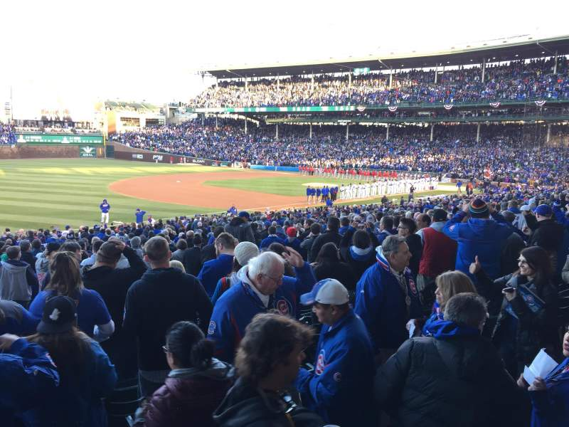 Seating view for Wrigley Field Section 207 Row 2 Seat 14