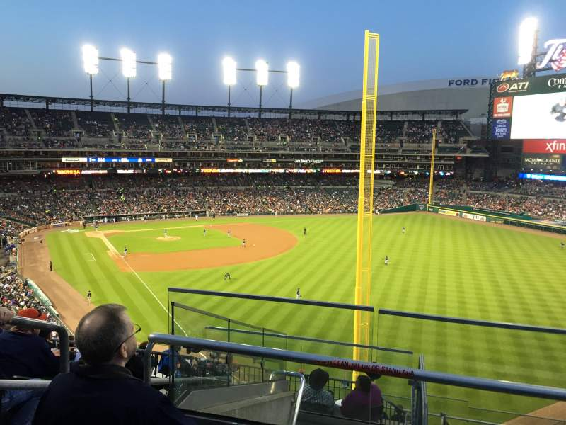 Seating view for Comerica Park Section 211 Row 7 Seat 1