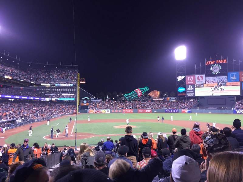 Seating view for AT&T Park Section Plb110 Row 23 Seat 13