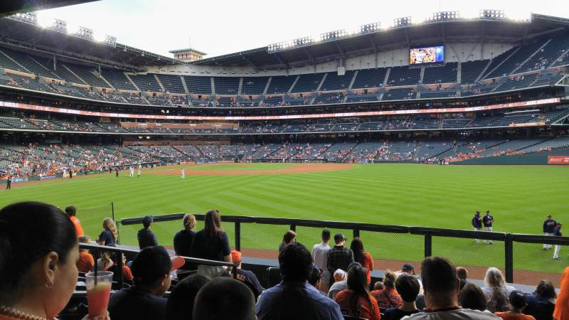 Seating view for Minute Maid Park Section 155 Row 14 Seat 10
