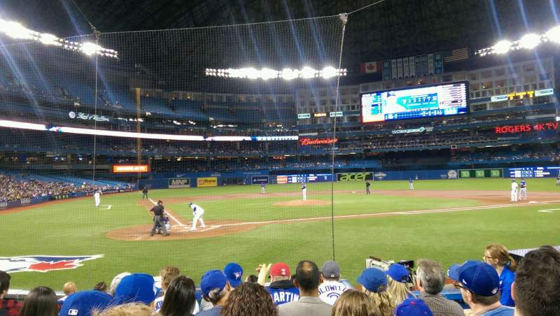Seating view for Rogers Centre Section 119L Row 10 Seat 104