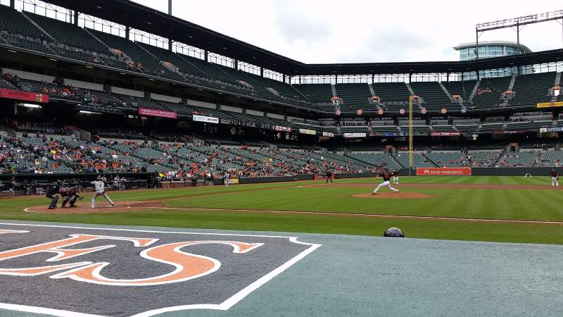 Seating view for Oriole Park at Camden Yards Section 22 Row 1 Seat 8