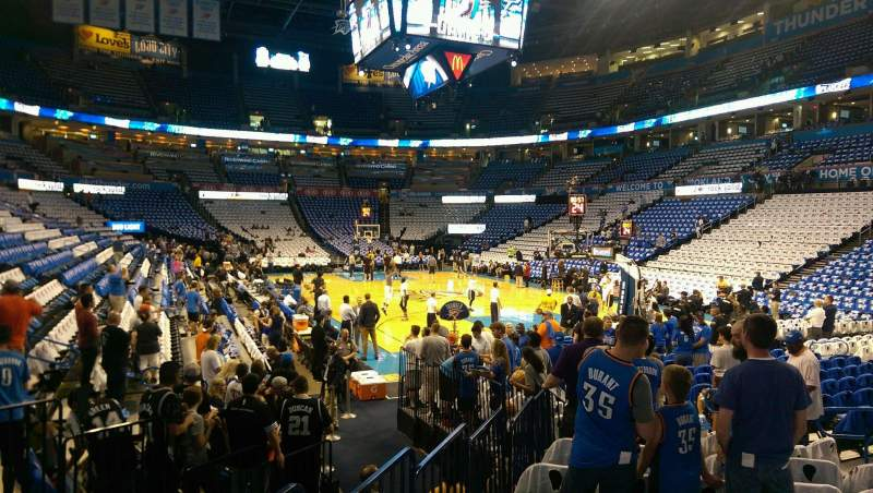 Seating view for Chesapeake Energy Arena Section 112 Row UU Seat 9