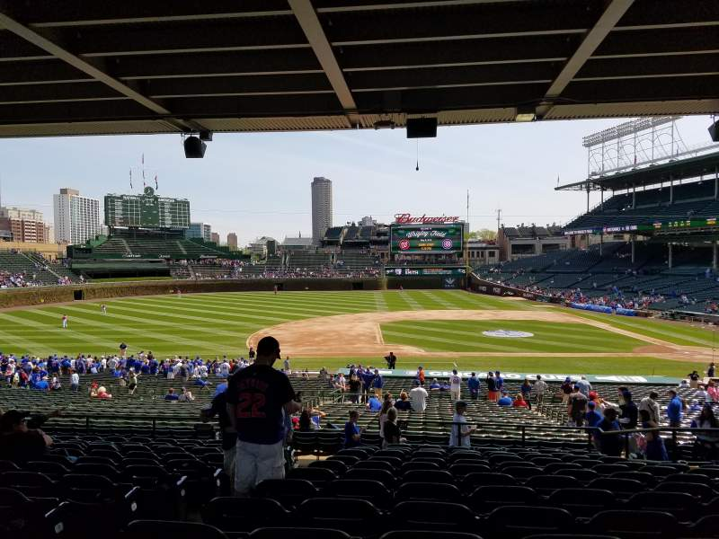 Seating view for Wrigley Field Section 213 Row Q3 Seat 3