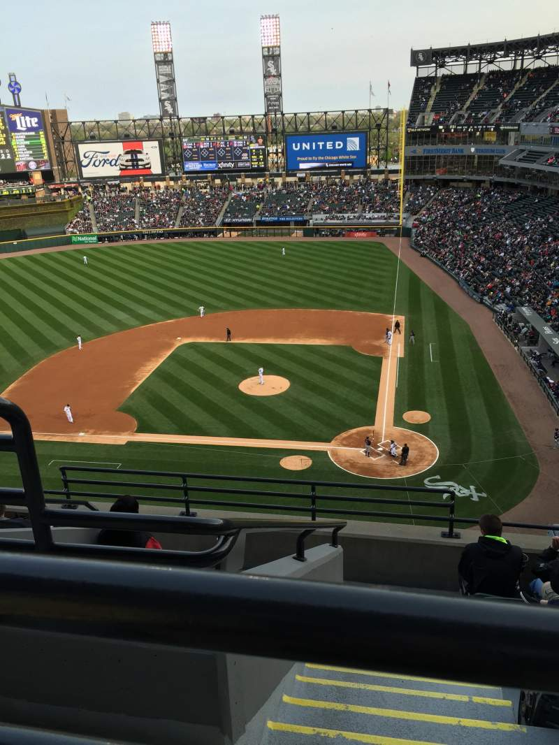 Seating view for Guaranteed Rate Field Section 536 Row 7 Seat 14