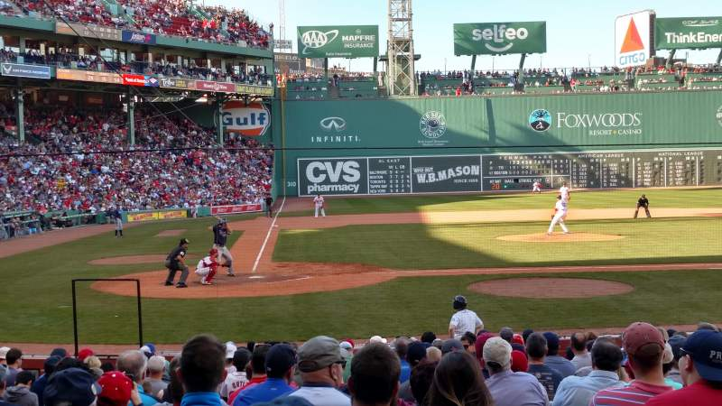 Seating view for Fenway Park Section Loge Box 123 Row CC Seat 1
