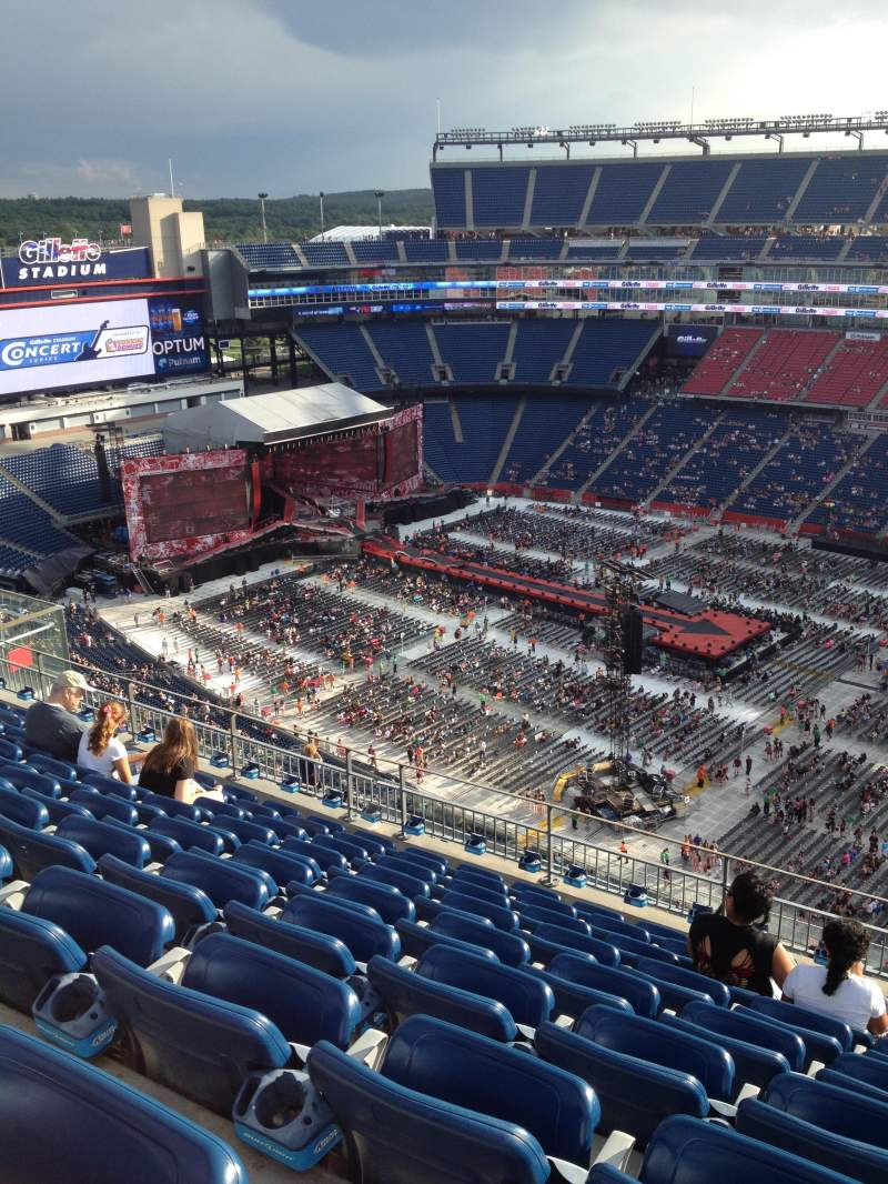 Gillette Stadium, section: 306, row: 15