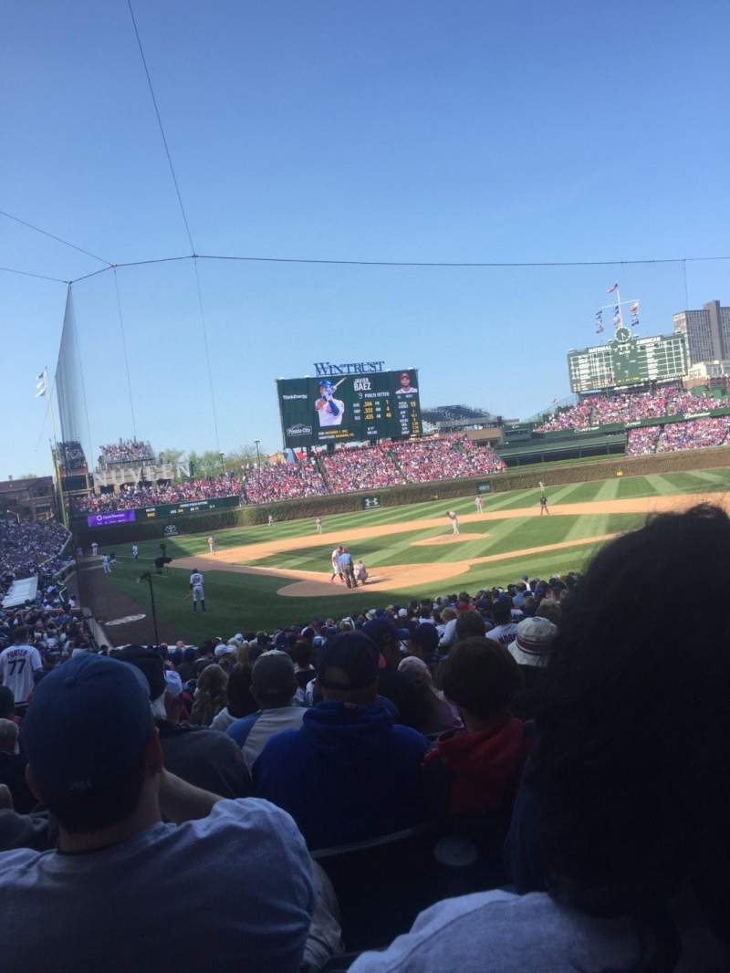 Seating view for Wrigley Field Section 123 Row 12 Seat 105
