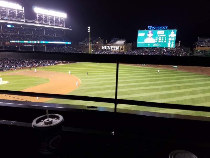 Seating view for Wrigley Field Section 433 Row 1 Seat 6