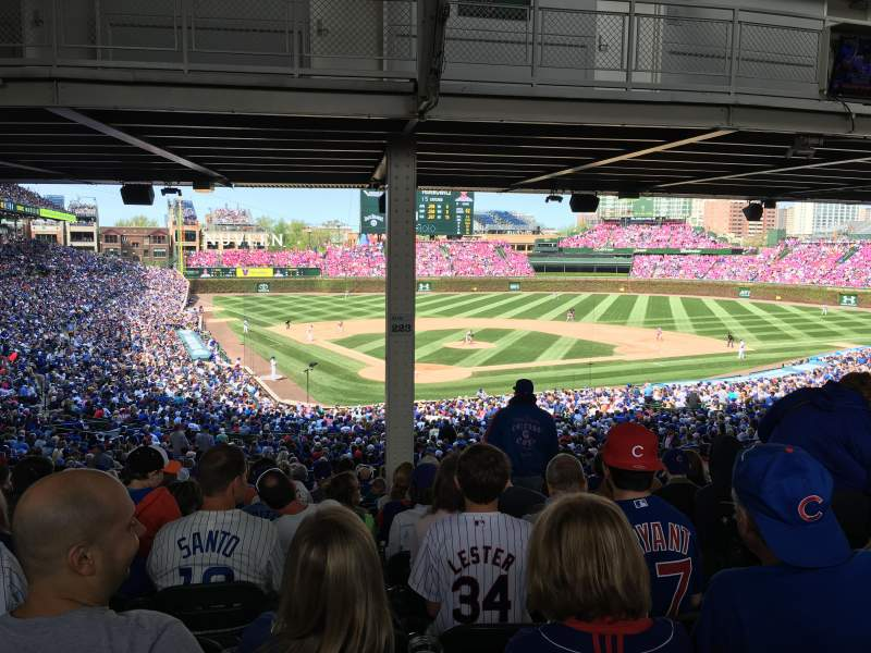 Seating view for Wrigley Field Section Aisle 223 Terrace Boxes Row 19 Seat 103