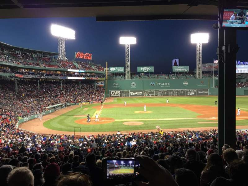 Seating view for Fenway Park Section Grandstand 17 Row 10 Seat 9