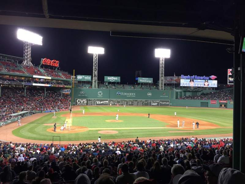 Seating view for Fenway Park Section Grandstand 17 Row 11 Seat 15