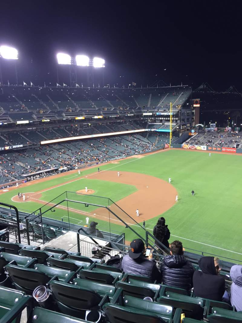 Seating view for Oracle Park Section VR302 Row 5 Seat 8