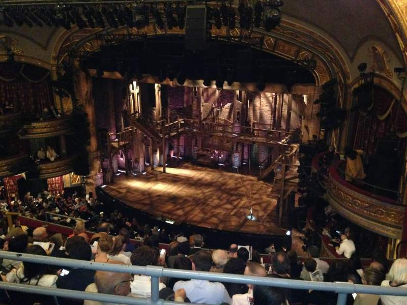 Seating view for Richard Rodgers Theatre Section Right Mezzanine Row A Seat 22