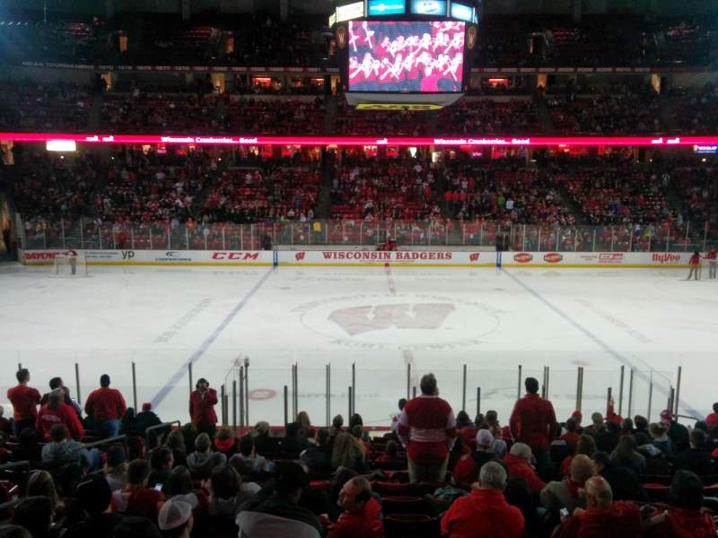 Seating view for Kohl Center Section 108 Row S Seat 13