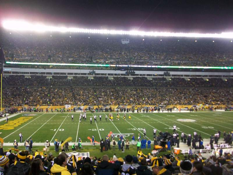 Seating view for Heinz Field Section 108 Row AA Seat 12