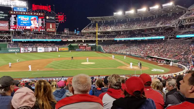 Seating view for Nationals Park Section 117 Row NN Seat 15