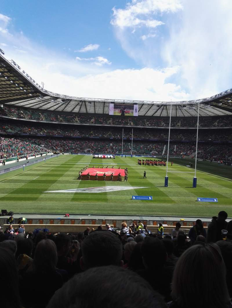 Seating view for Twickenham Stadium Section L16 Row 31 Seat 169